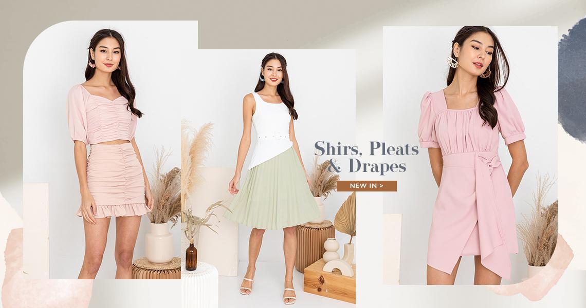 shirs pleats drapes