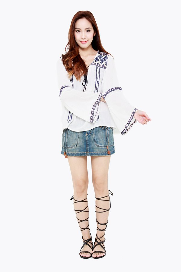 Riled up Ranches Blouse White