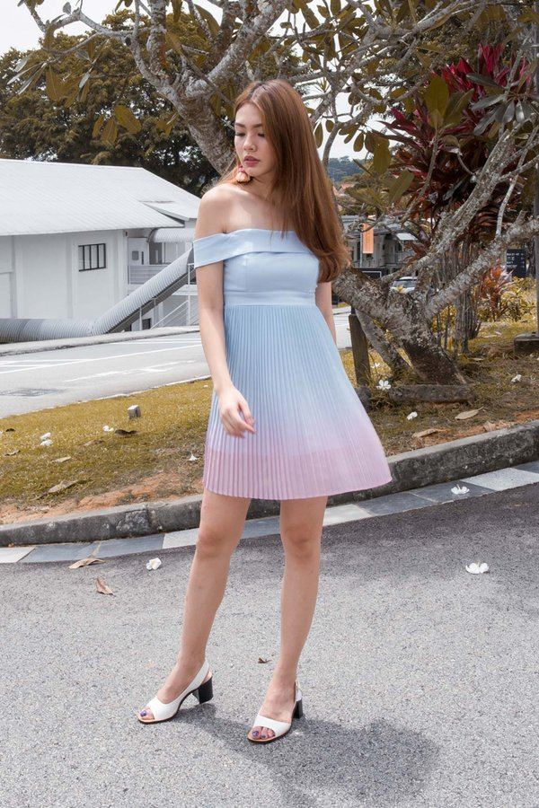 Ombre Oomph Pleated Dress Paddlepop