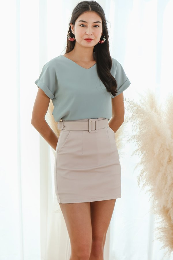 Cleverly Clean Cuffed Tee Sage Green
