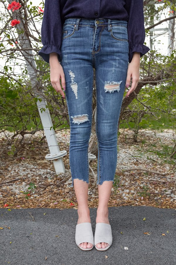 Fitted Force Cropped Jeans