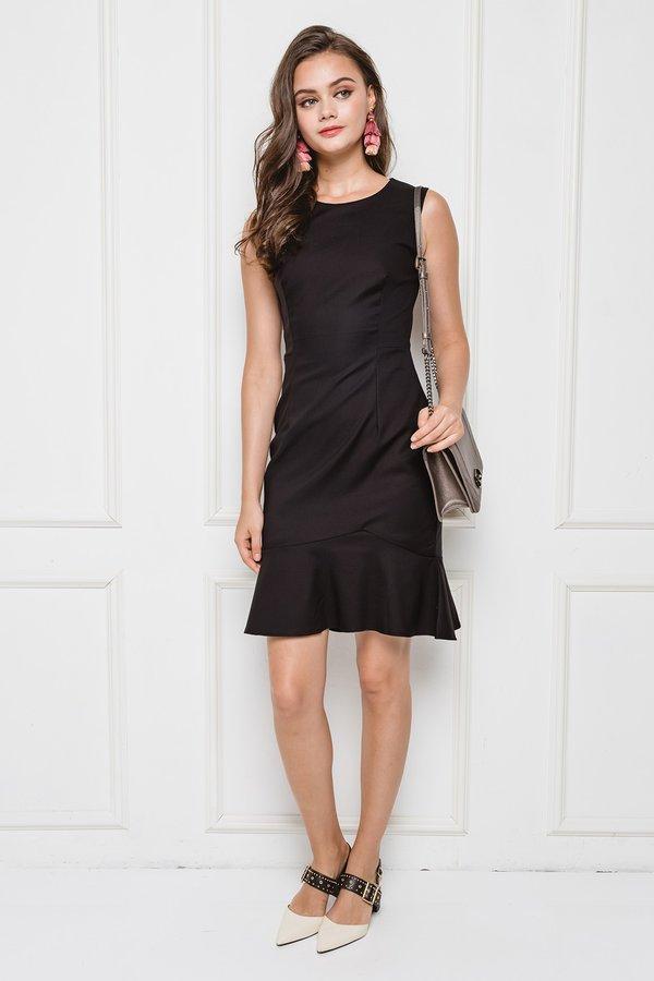 Tailored Tenacity Dropwaist Dress Black