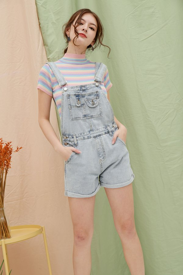 Denim Dose of Dungaree Overall Shorts