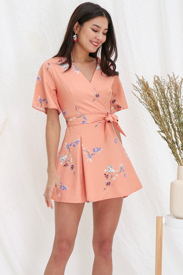Vacation Vogue Floral Kimono Dress Soft Marigold