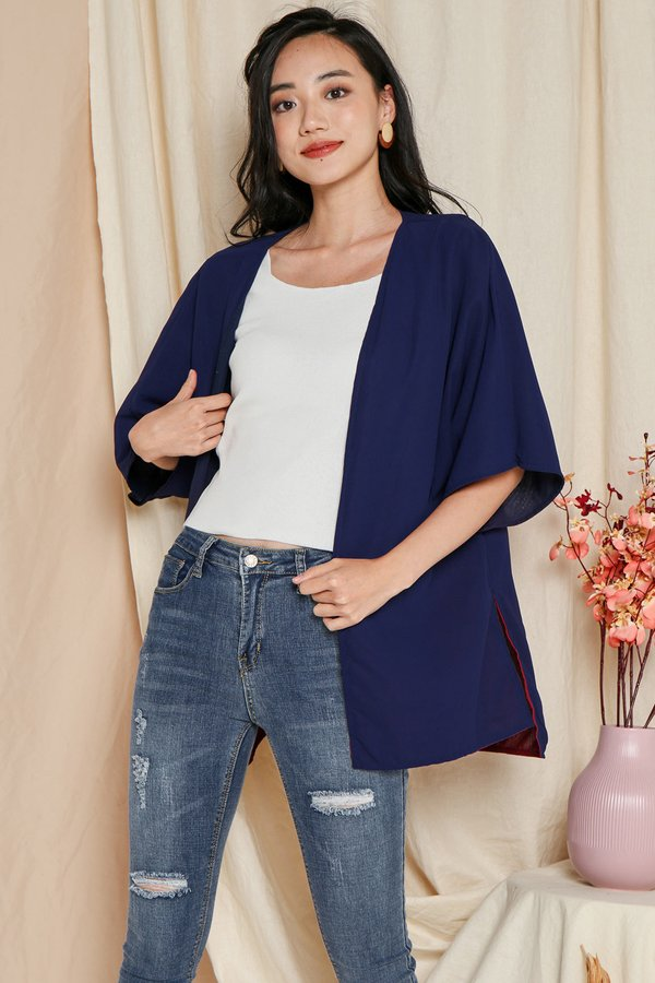 Ombre so Rad Reversible Kimono Jacket Dusk/Navy Blue