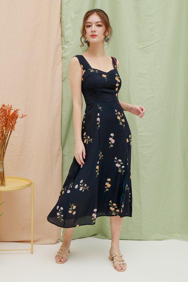 Midsummer Floral Dream Midi Dress