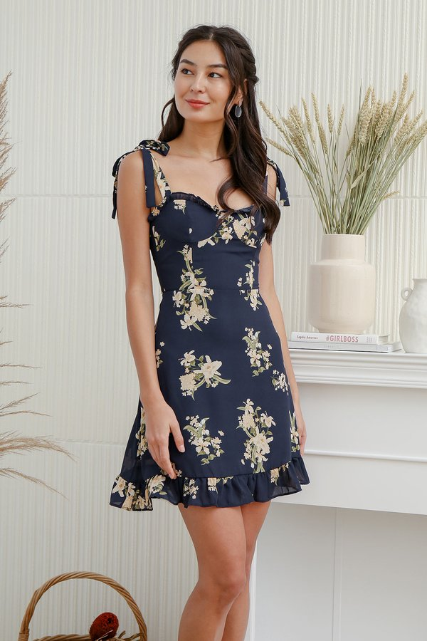 Blooming Southern Belle Floral Tie String Dress