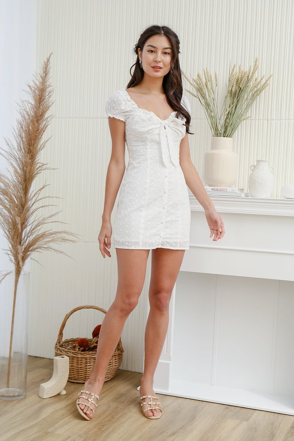 Threads of Happyness Eyelet Button Dress