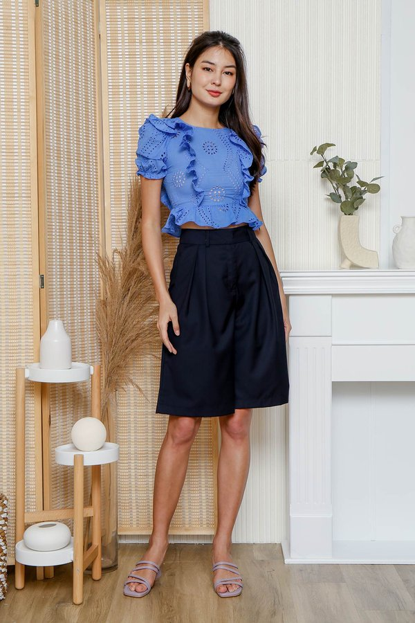 Lush and Lofty Culottes Navy Blue