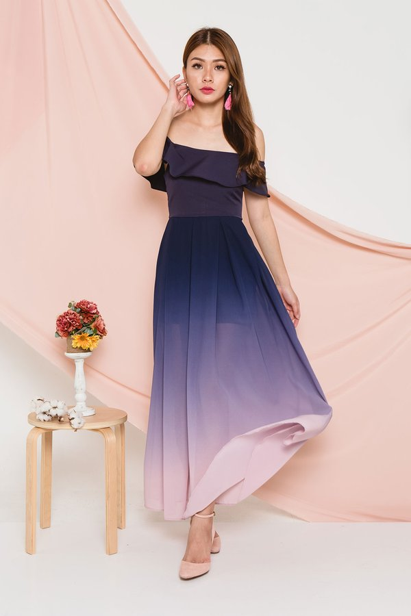 Ombre Ode Maxi Dress Pastel Sky