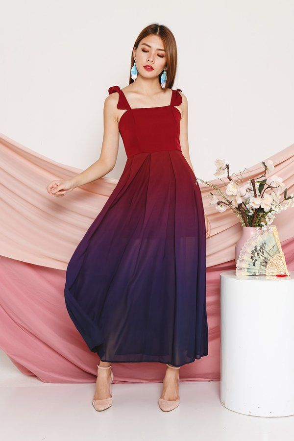 Fairytale Flutters Ombre Maxi Dress Dusk