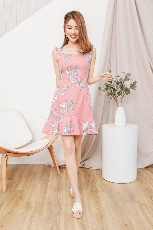 Fluttery Ferns Dropwaist Dress Pink