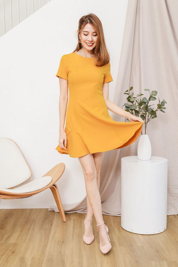 Scaling Slenderity Skater Dress Marigold