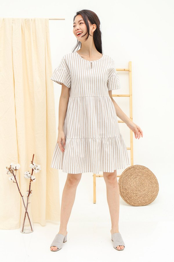Tiers of Whimsy Stripe Babydoll Dress