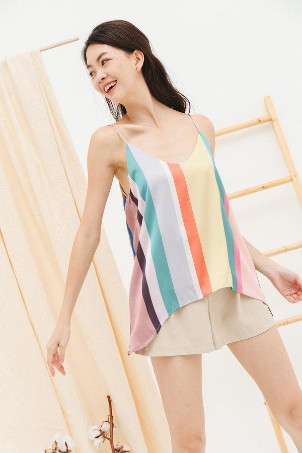 Rainbow Formation Silken Stripes Camisole