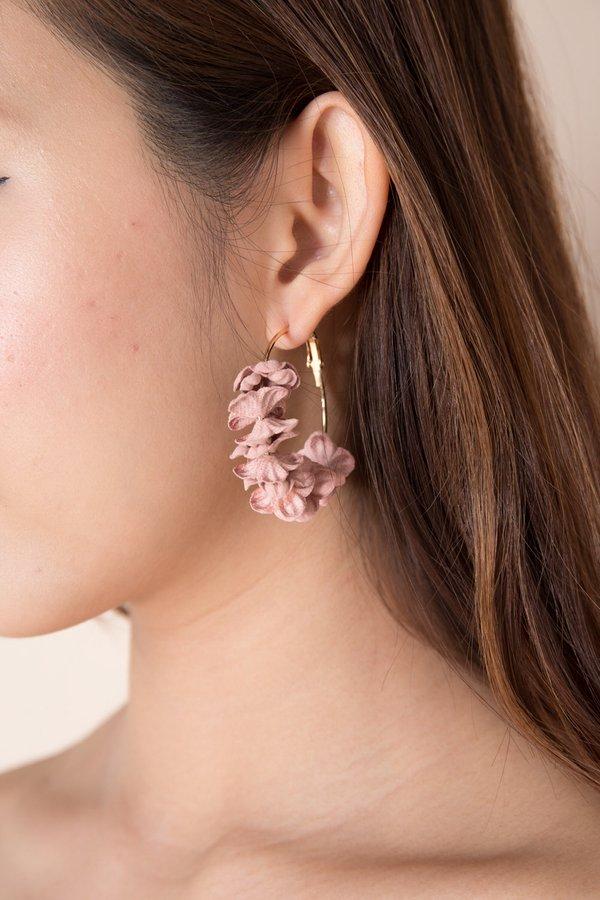 Petals Aflutter Hoop Earrings Blush