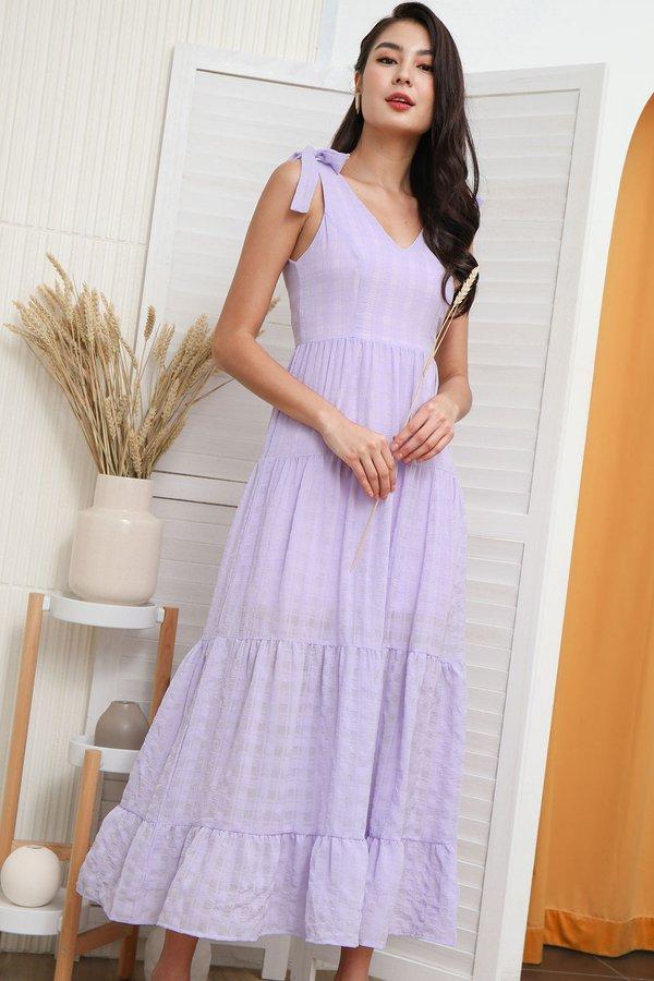 Tales of Tiers Swing Maxi Dress Lilac