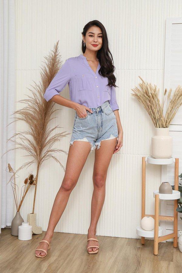 Basic Wardrobe Requirement Utility Shirt Lilac