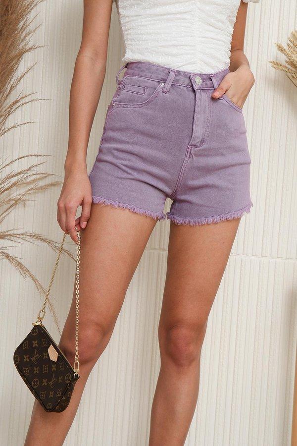 Fraycations for Days Denim Shorts Lilac