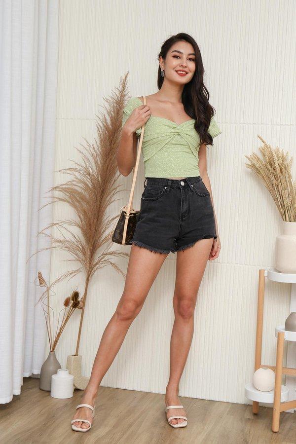 Fraycations for Days Denim Shorts Black