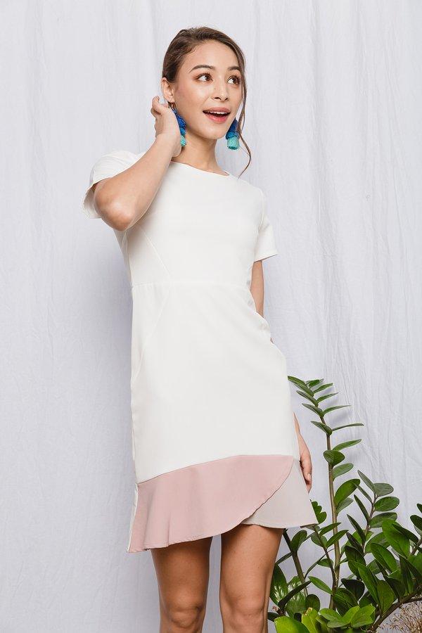 Colour Curves Shift Dress White