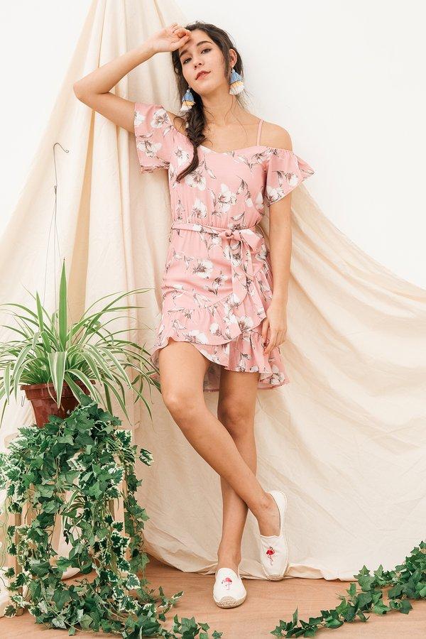 Uppity Urbanity Floral Dress Pink