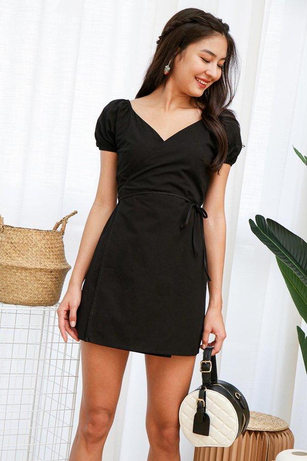 Little Wrap Black Dress