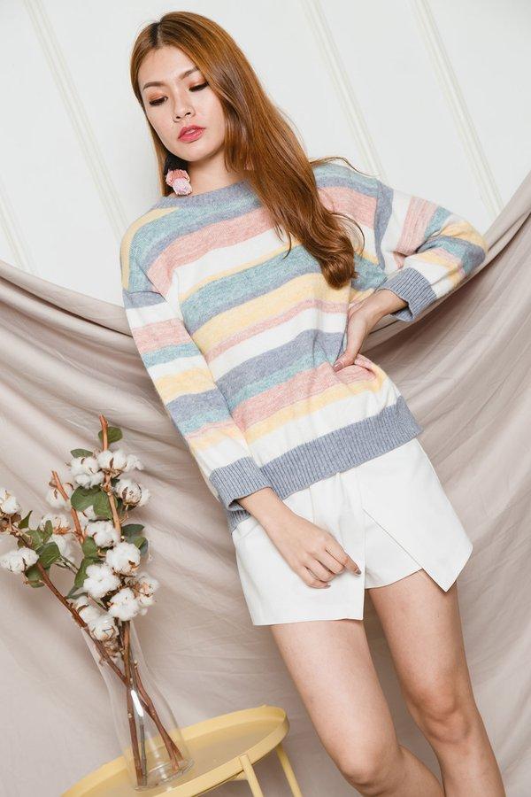 Rainbow Pastels Knit Pullover Paddlepop