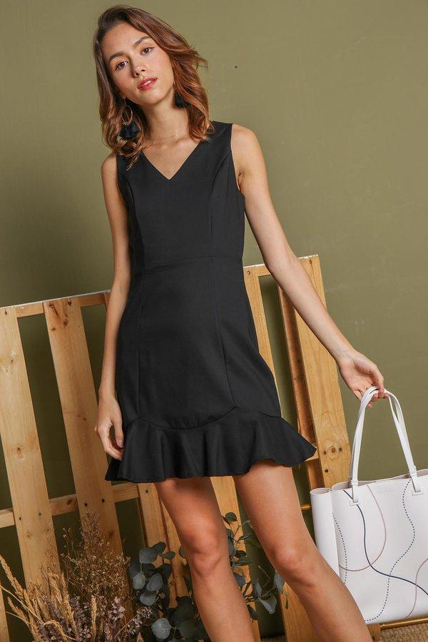 Fishtail Fit Dress Black