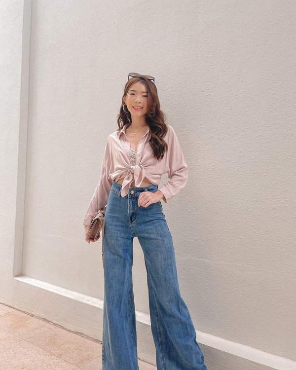 Reason to Strut Wide Leg Denim Culottes Midwash