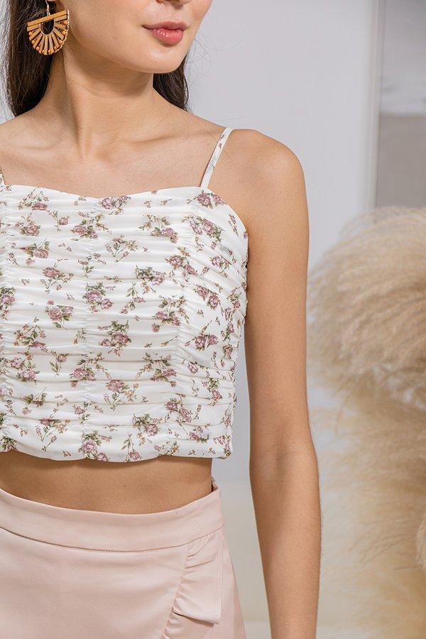 Sweet Shirs of Spring Cami Crop Top White