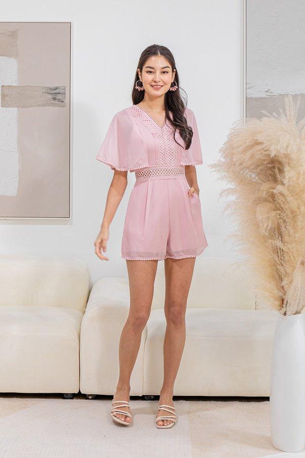 Bliss in a Swish Kimono Romper Pink