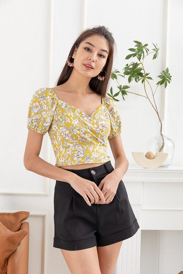 Resounding Florals Tie Top Yellow