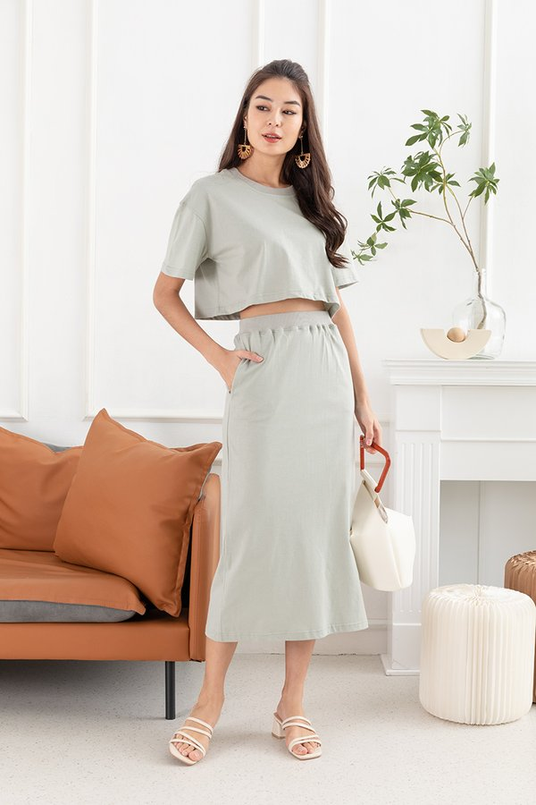 Mastering the Mellow Lounge Two Piece Set Sage Green
