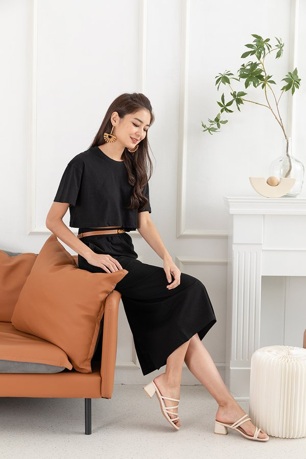 Mastering the Mellow Lounge Two Piece Set Black