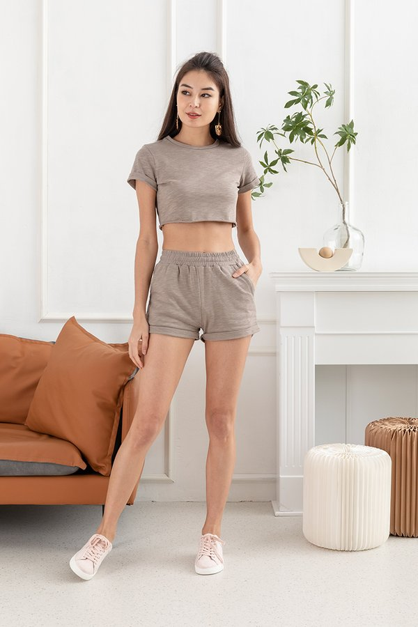 Homebody Haven Lounge Two Piece Set Taupe Grey