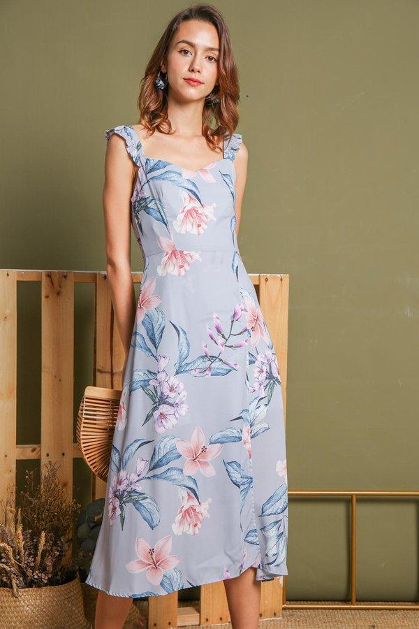Fairytale Florals Maxi Dress Lilac Grey