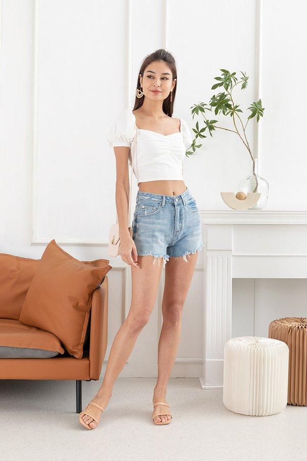 Fair Weather Distressed Denim Shorts