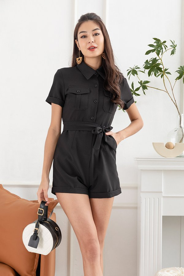 In Unity with Utility Romper Black