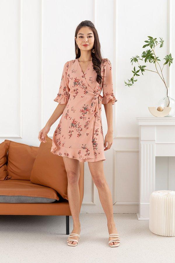 Tea in the Rose Garden Wrap Dress