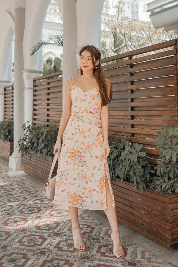 Radiate Rays of Sunshine Floral Midi Dress