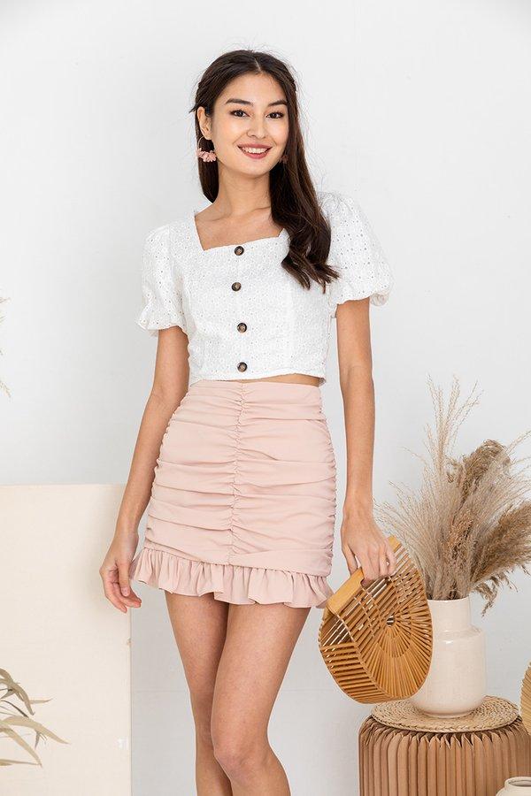 Spun in Stirring Shirs Skirt Beige Pink
