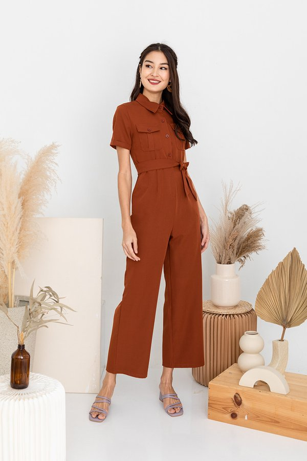 Full Unity with Utility Jumpsuit Terracotta