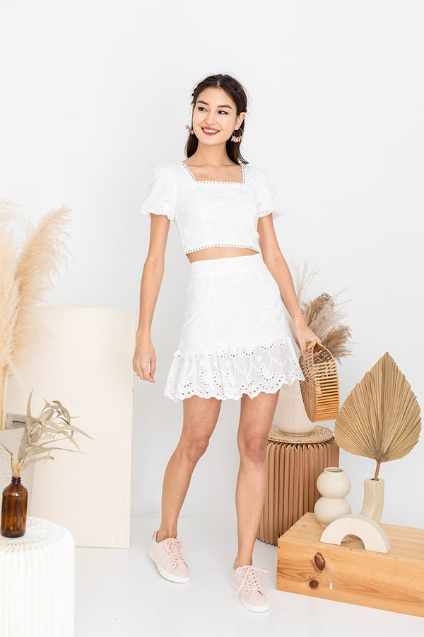 Leisure Meets Luxe in Twos Set White