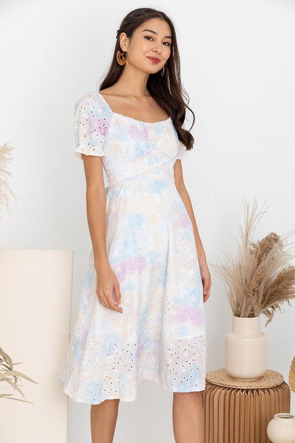 Spritely Constellations Shirs Midi Dress Blue