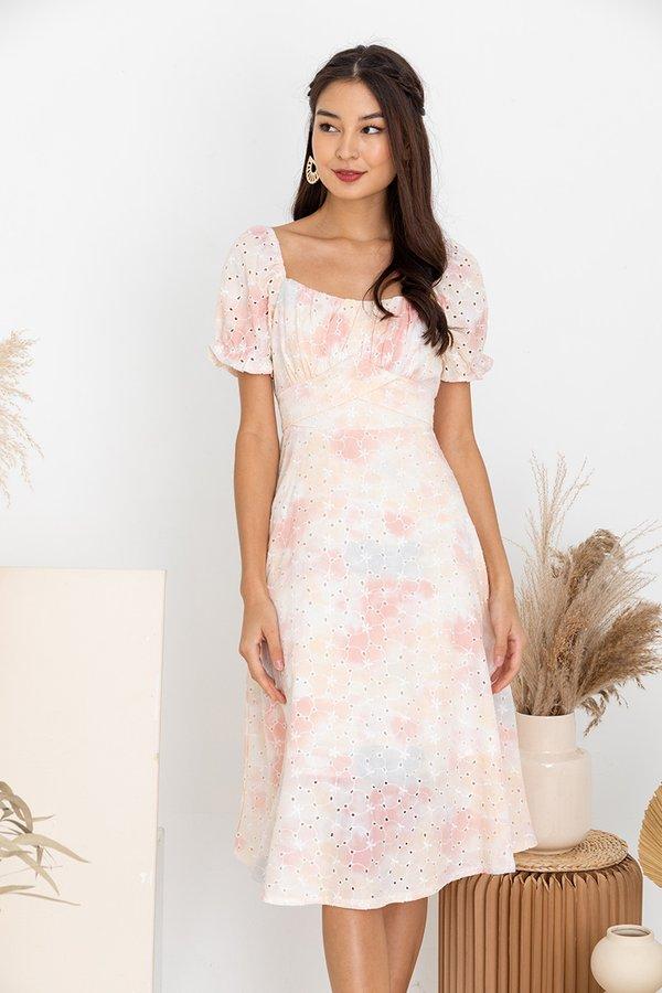 Spritely Constellations Shirs Midi Dress Pink
